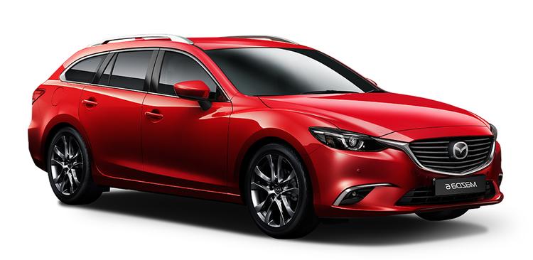 Precut window tint film for Mazda 6 estate.