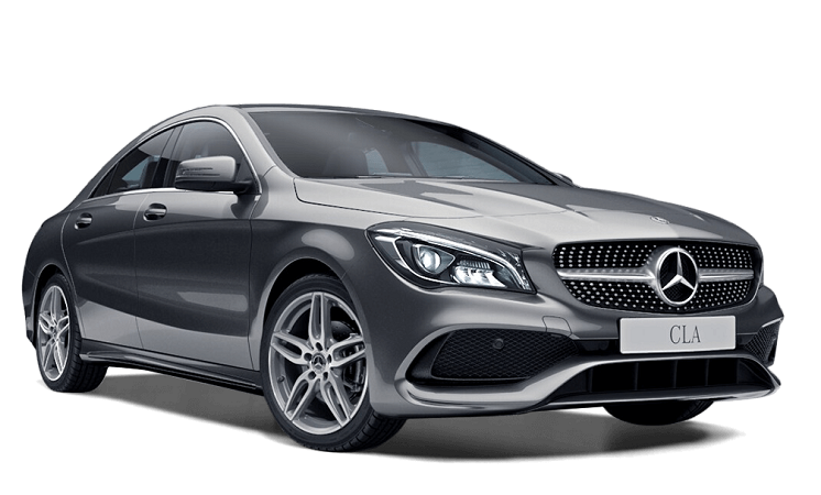 Precut window tint film for Mercedes CLA coupé.