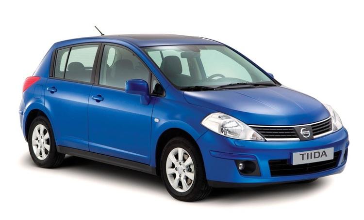 Precut window tint film for Nissan Tiida.