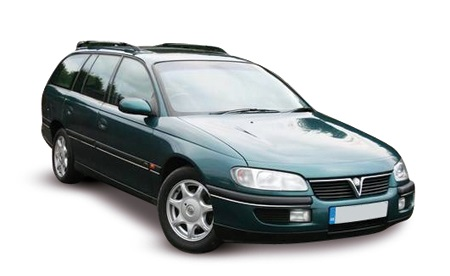 Precut window tint film for Opel Omega estate.