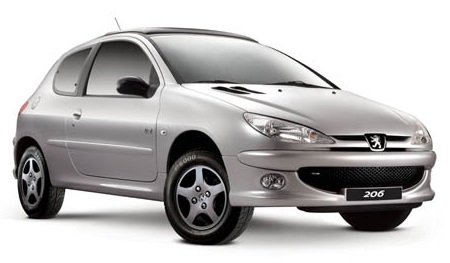 Precut window tint film for Peugeot 206 3-d.