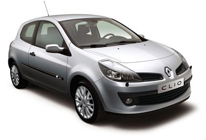 Precut window tint film for Renault Clio 3-d.