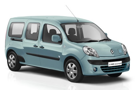 Precut window tint film for Renault Kangoo Maxi.
