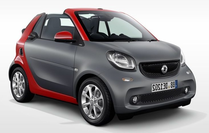 Precut window tint film for Smart Fortwo cabriolet.
