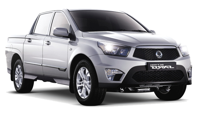 Precut window tint film for Ssangyong Actyon Sport.
