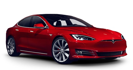 Precut window tint film for Tesla Model S.