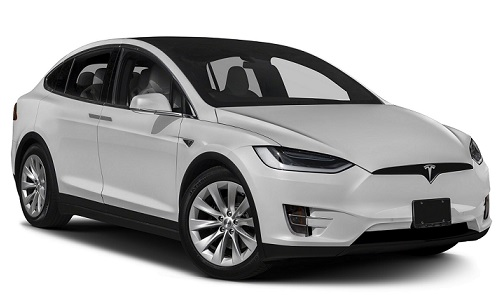 Precut window tint film for Tesla Model X.