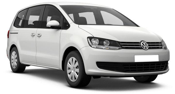 Precut window tint film for Volkswagen Sharan.