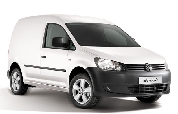 Precut window tint film for Volkswagen Caddy Van.