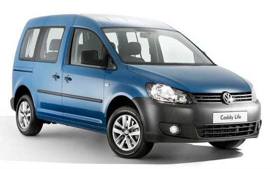 Precut window tint film for Volkswagen Caddy Life.