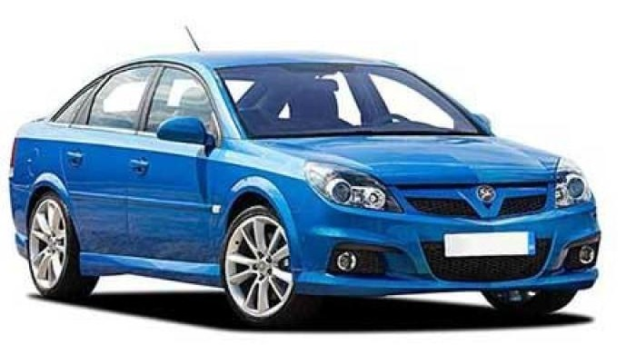 Precut window tint film for Opel Vectra hatchback.