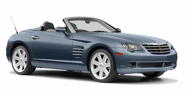Window tint film for the Chrysler Crossfire cabriolet.