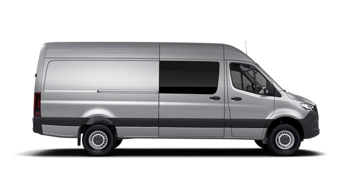 Window tint film for the Mercedes Sprinter Van.