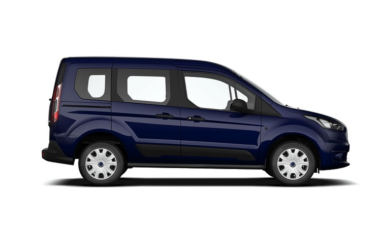 Window tint film for the Ford Transit Connect combi L1.