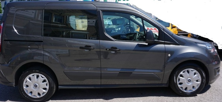 Window tint film for the Ford Transit Connect crew L1.
