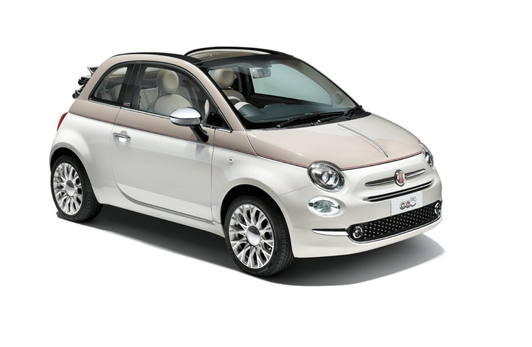 Window tint film for the Fiat 500 Cabriolet.