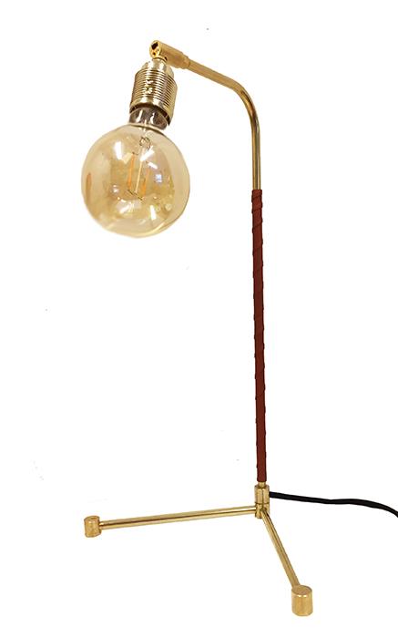 Bordslampa mässing TABLE LEATHER