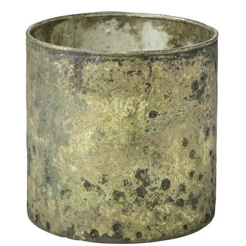 Stina värmelykta - Grön/guld