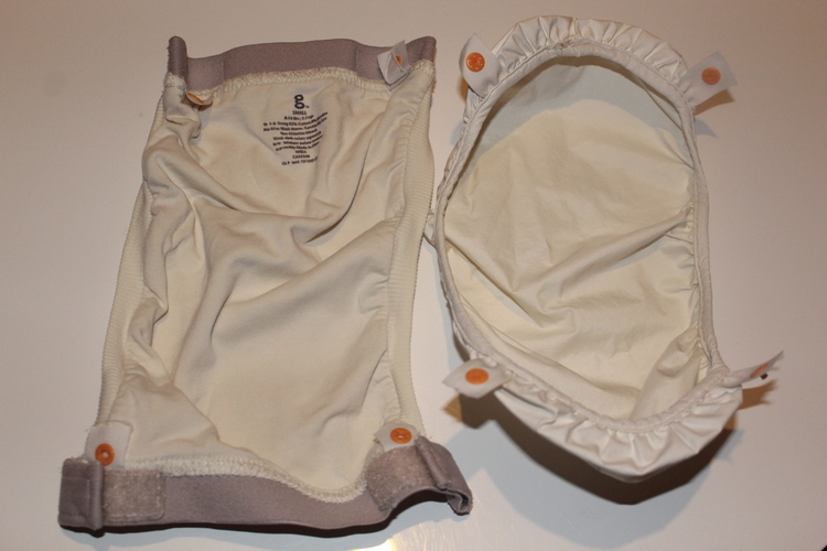 gDiapers ytterbyxa Small vit inkl pouch