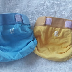 "gDiapers ""Good morning Sunshine"" & ""Gigabute blue"" (063)"