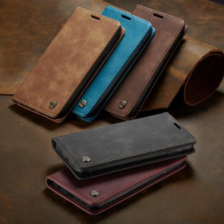 läderplånbok för Samsung A10