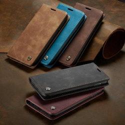 läderplånbok för Samsung A70