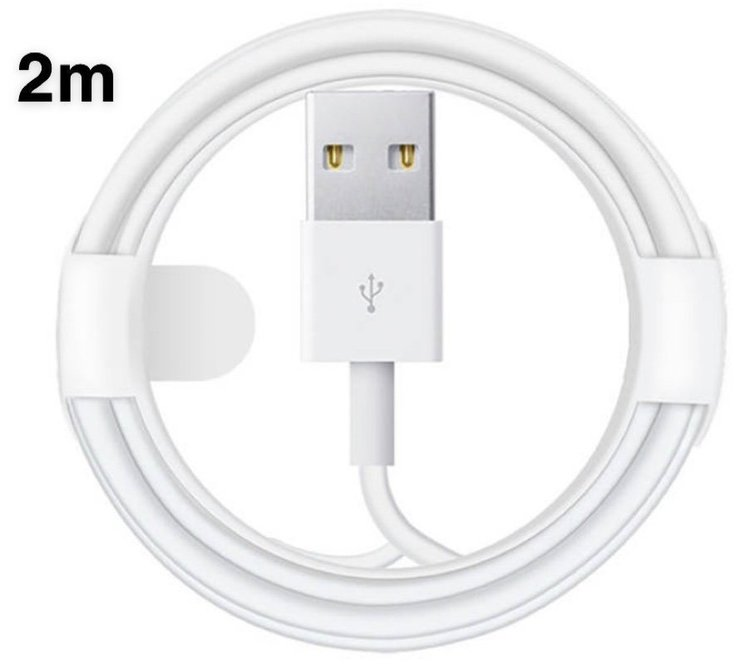 2 meters kabel till iPhone 6/6s/ 7/8/x/xs/xs max/11/11pro/11pro max