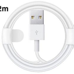 2 meters kabel till iPhone 6/6s/ 7/8/x/xs/xs max/11/11pro/11pro max