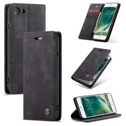 caseme Plånboksfodral iPhone SE 2020 svart