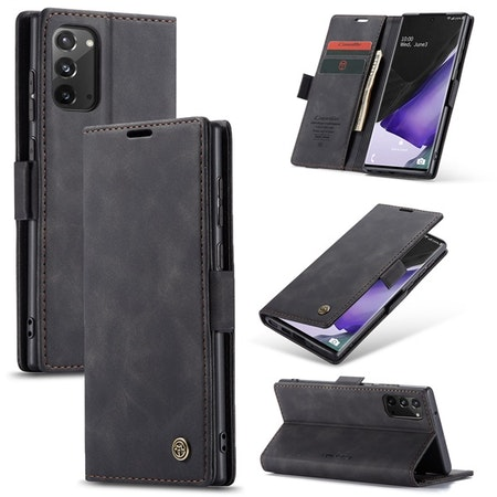 Caseme Plånboksfodral Galaxy Note 20 svart