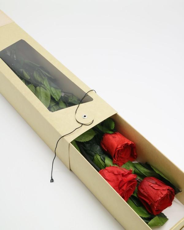 Evighetsros Giftbox  - Röd