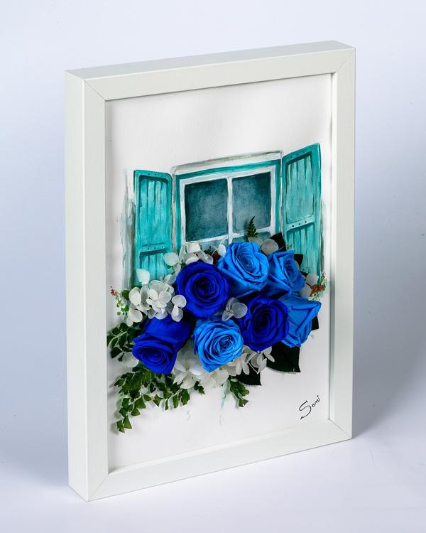 Handmålad Blomtavla - Lyxigt present