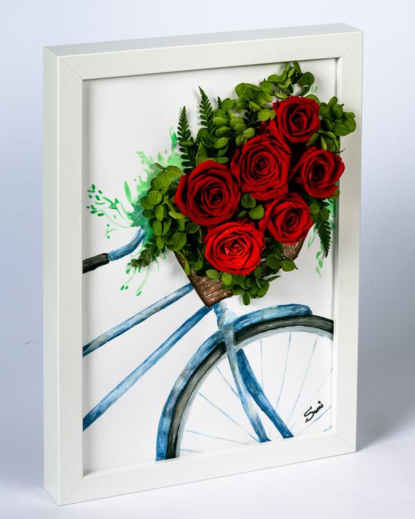 Handmålad Blomtavla - Lyxigt gåva