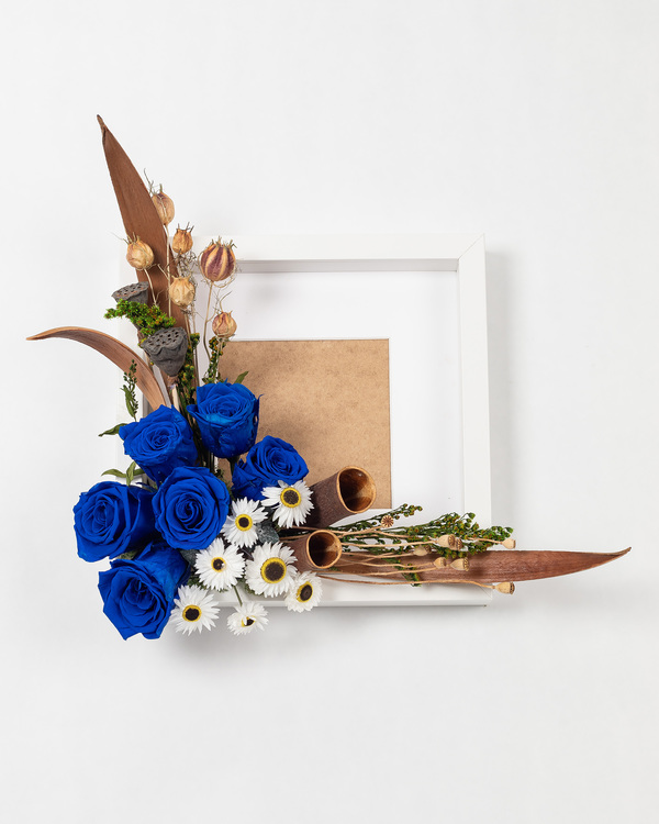 Blomram - Mörkblå