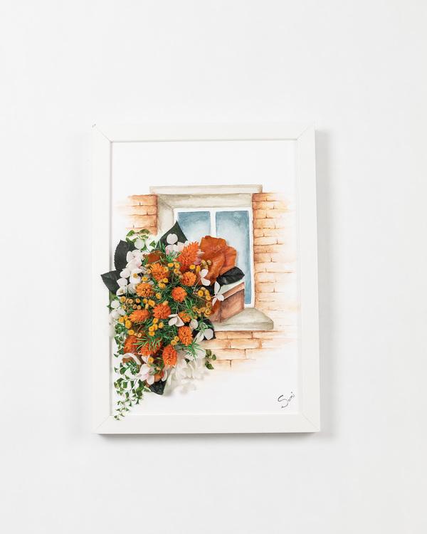 Handmålad Blomtavla - Lyxigt