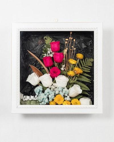 Blomram - Vit-Rosa