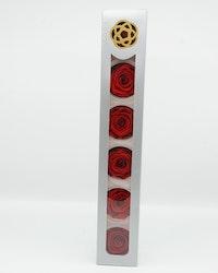 Evighetsros kara - Röd XL - 6 st.