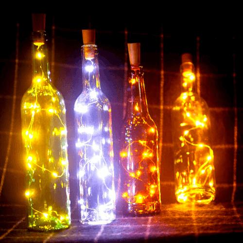 3-pack Ljusslinga för flaska LED