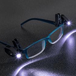 Läslampa för glasögon 2-pack