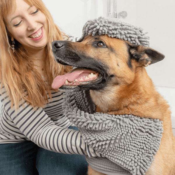 Ultra absorberande handduk för husdjur