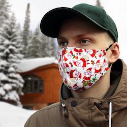 Munskydd med julmotiv