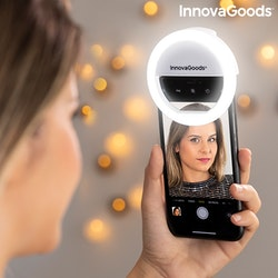 Selfielampa LED ring med olika ljuslägen