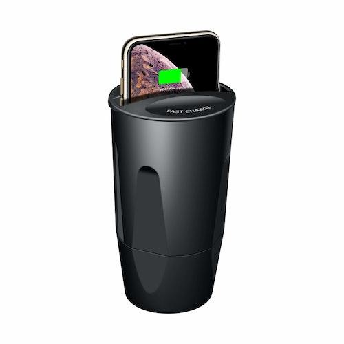 Mugghållare med laddning för mobilen