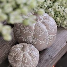 Dekoration Pumpa Mandala 8 cm
