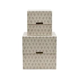 House Doctor Förvaringslåda Floral 2-pack