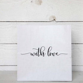 Presentpåse 'With love'