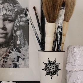 Kopia Skovbon Kruka / Mugg Mandala Mörk