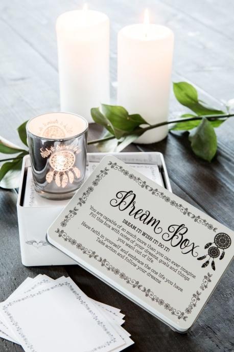 Majas Dream Box med ljuslykta och 30st små kort