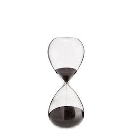 Timglas i klarglas med svart sand modell litet