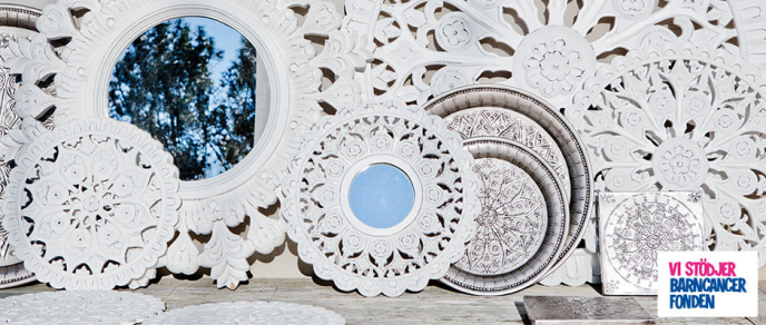 Spegel Carves vit 40 cm